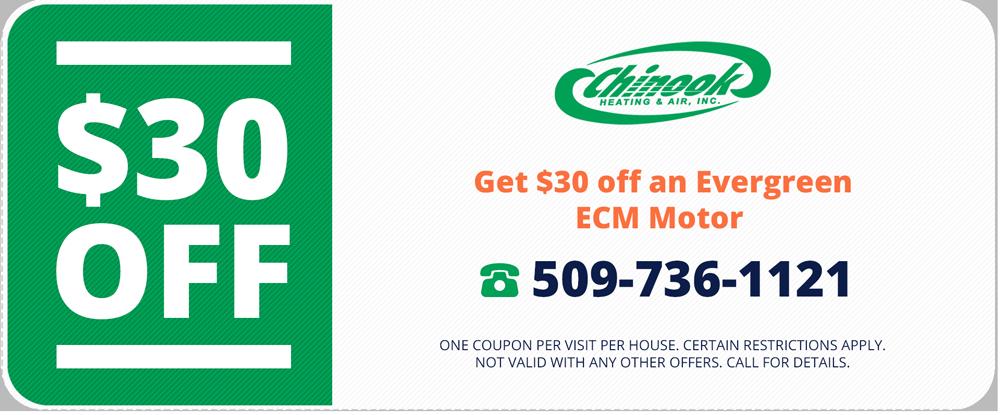 Evergreen ECM Motor Coupon